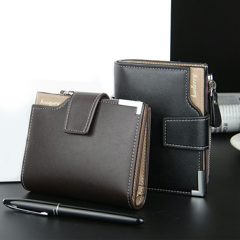 New Mens Leather ID Credit Card Cash Purse Holder Clutch Billfold Wallet