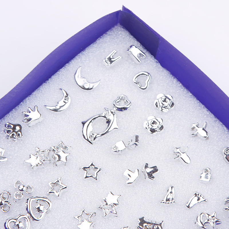 Hot 24 Pairs Wholesale Mix Silver Plated Plastic Ear Stud Earring Set Jewelry фото