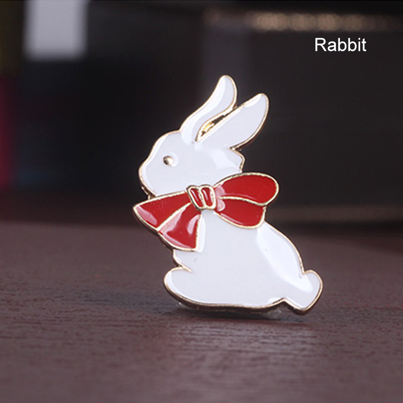 3Pcs Metal Cartoon Rabbit Bird Head Star Stick Collar Pins Badge Corsage Brooch Set фото