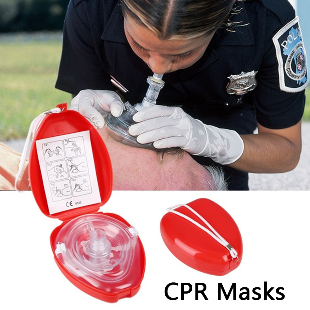 Professional First Aid Masks CPR Breathing Mask Resuscitator One-way Valve Health Tools