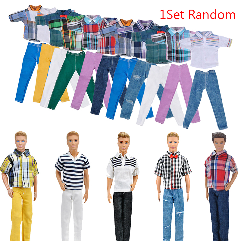 """Handmade T shirt And Pants Clothes Outfit for 11"""" Barbie Boyfriend Ken Doll"""