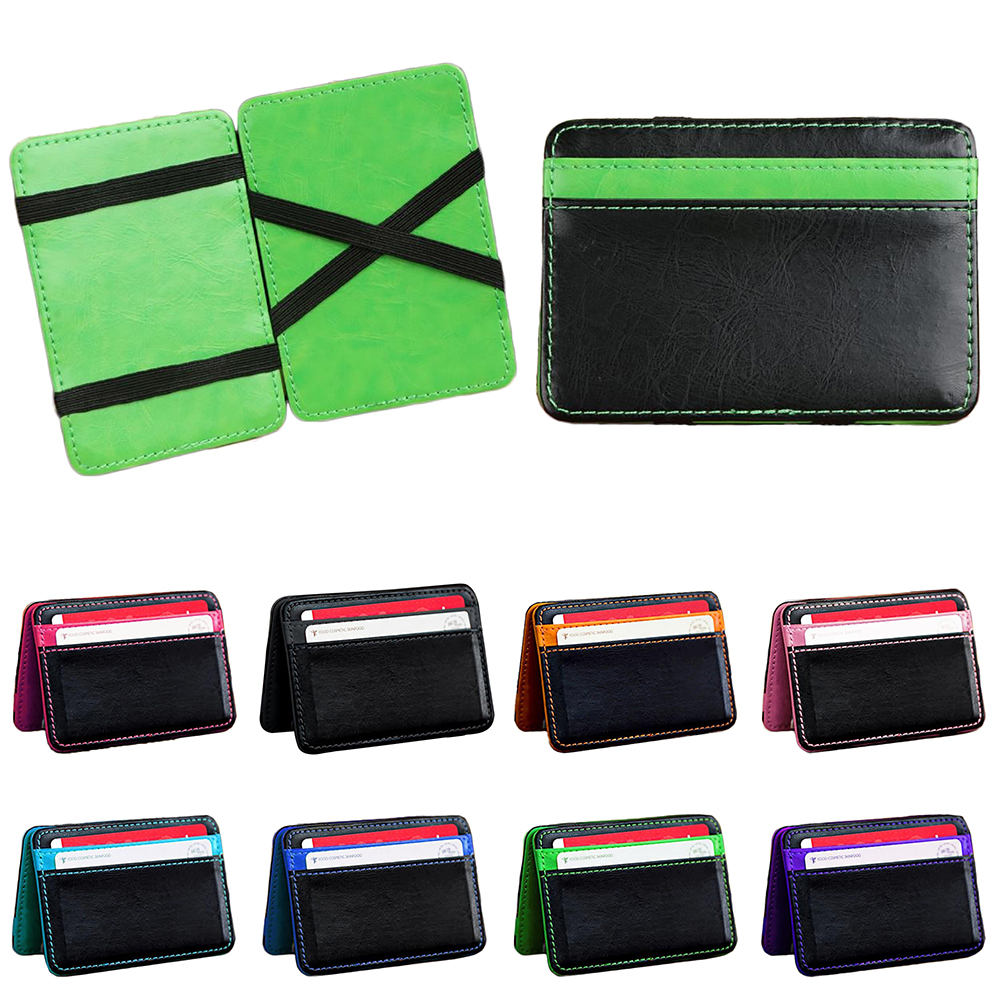 Neutral Magic Bifold Leather Mens Synthetic Leather Wallet Money Pockets Credit/ID Cards Holder Purse