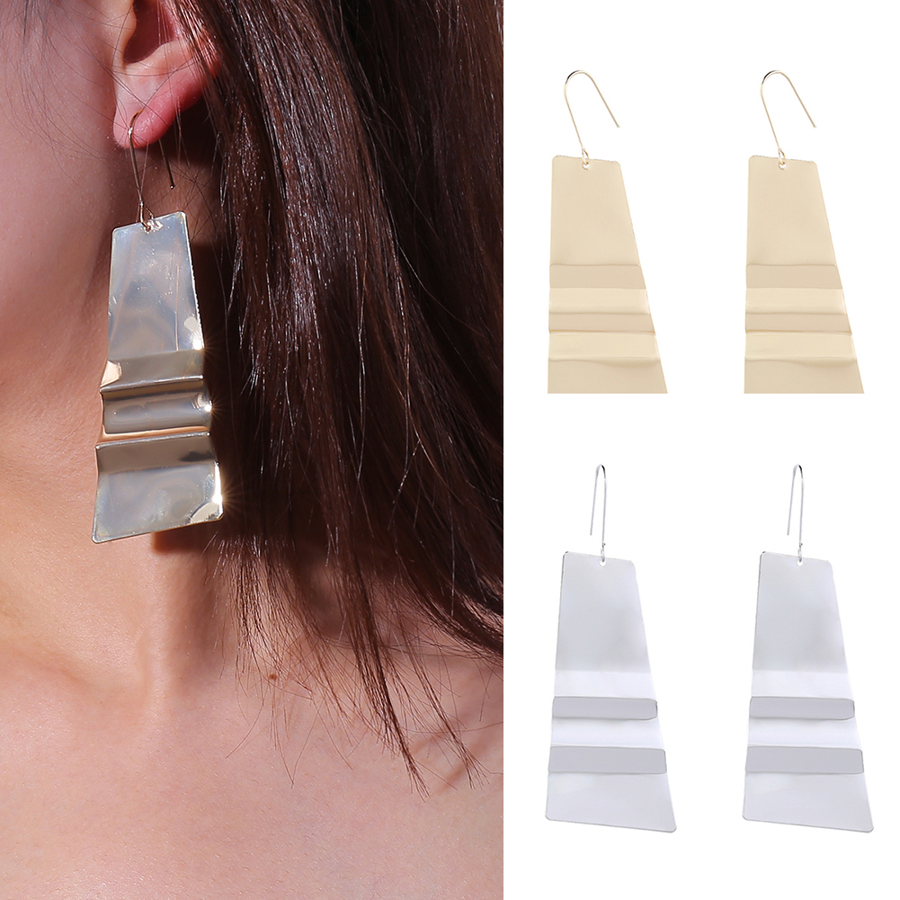 Fashion Exquisite Trapezoid Iron Sequins Earrings Women Party Earrings For 2018 Valentines Day