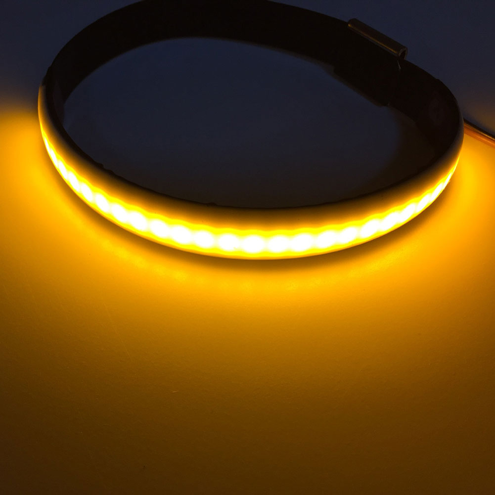 1Pcs Motorcycle Fork Turn Signals Light Amber LED Strips For Clean Custom фото