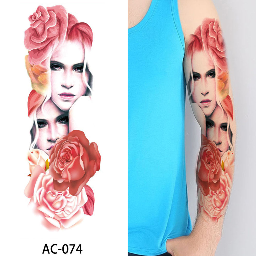 Big Large Full Arm Temporary Tattoo Sticker Beauty Decal Body Art Flowers Unisex фото