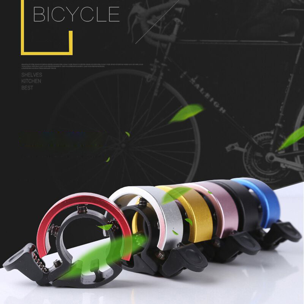 Bicycle Bell Aluminum Alloy Loud Horn Bike Cycling Handlebar Alarm Ring Shape Q