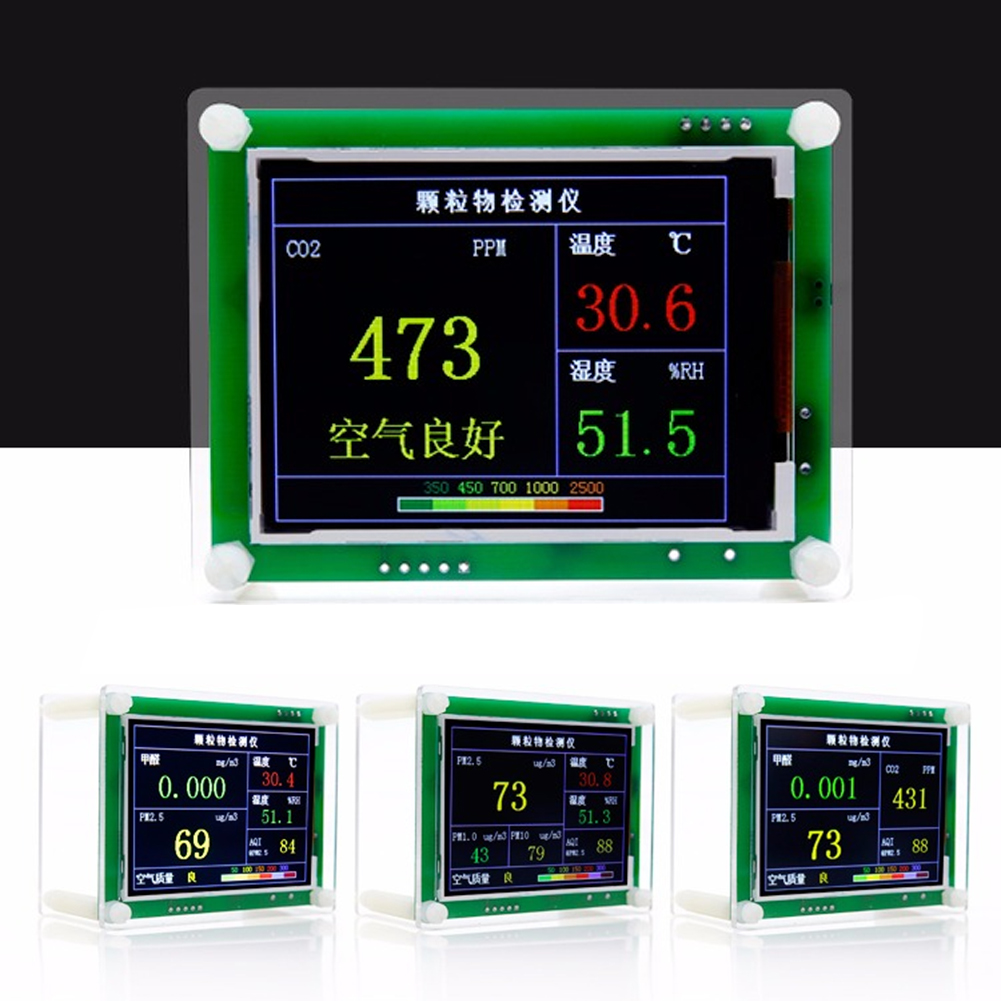 """2.8"""" LCD Carbon Dioxide CO2 Indoor Car Inernal Test Temperature Humidity"""