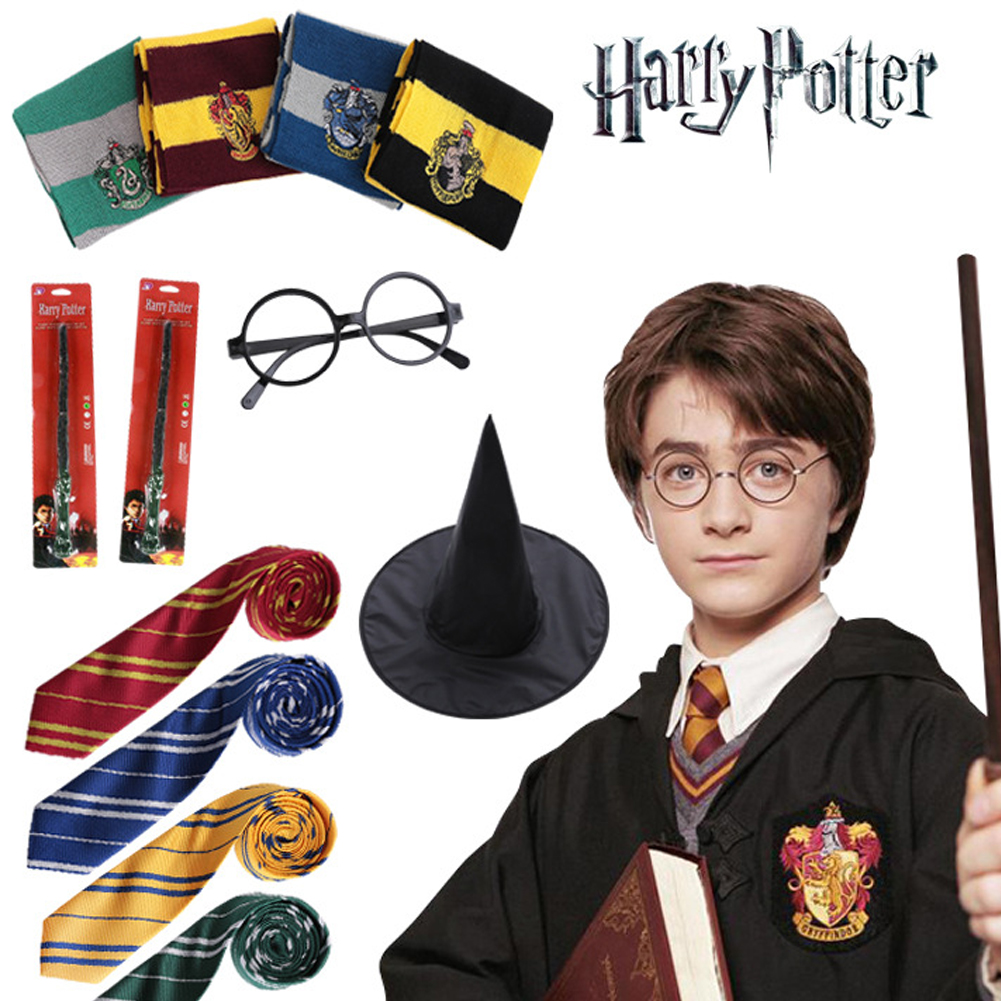 World Book Day Costumes Harry Potter Tie Gryffindor Slytherin Ravenclaw Hufflepuff Fancy Dress Book Day