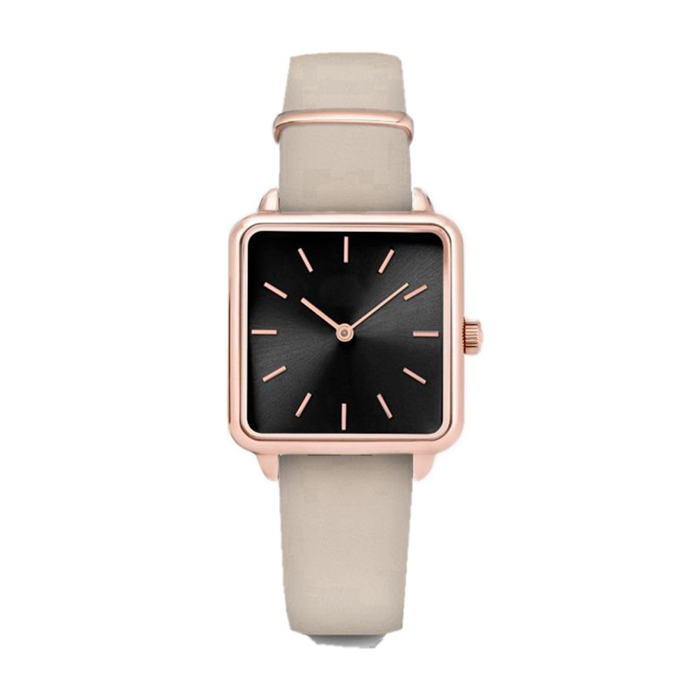 Fashion Square Dial Leather Band Quartz Watch Classic Female Super Thin Case Wristband Watch Birthday Gift For Women Girls 7 Colors Available