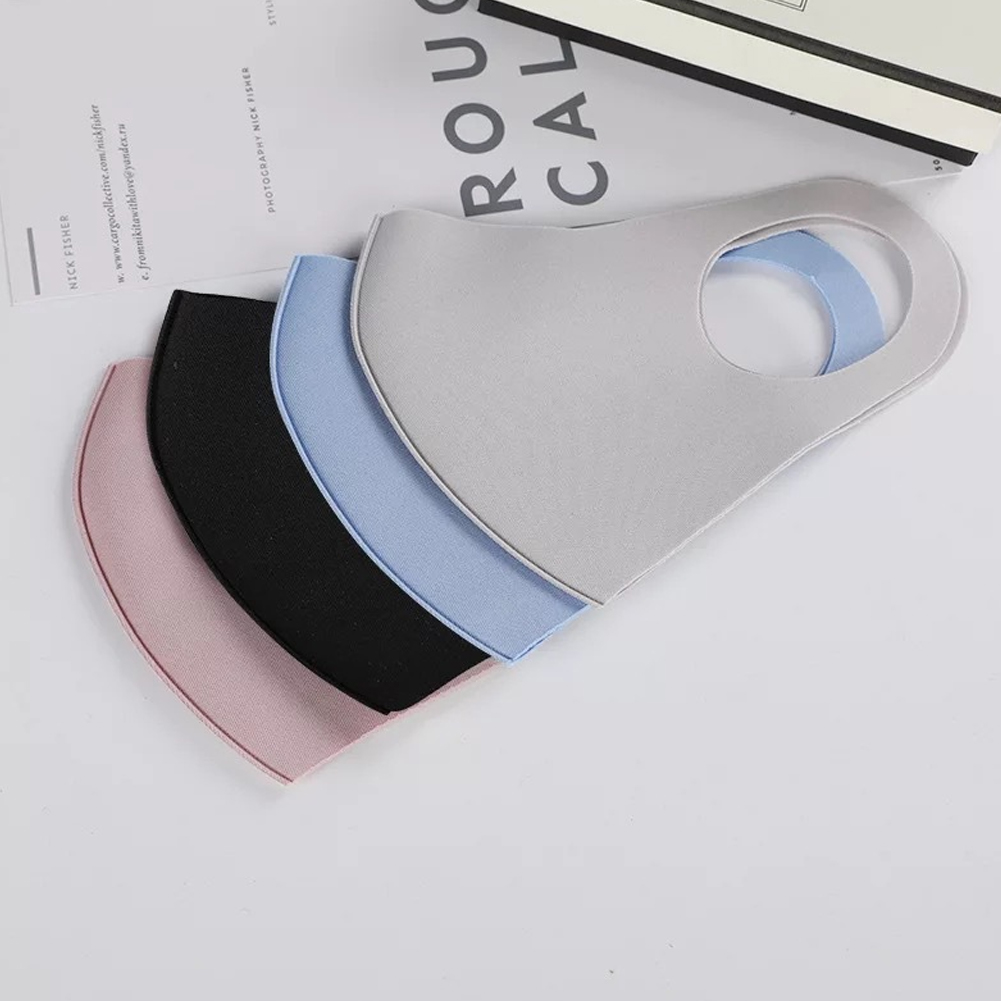 Washable Earloop Mask 3D Ice Silk Cotton Cycling Anti Dust Filter Mouth Face Mask Care Respirator For Summer