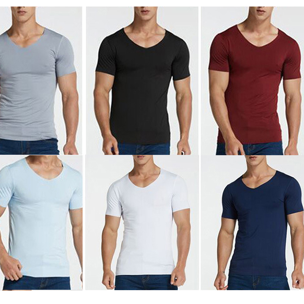 Mens Summer Fashion Slim Fit T-shirt Male Fitness Short Sleeve Casual Shirts Hip Hop Tees Plus Size M-5XL