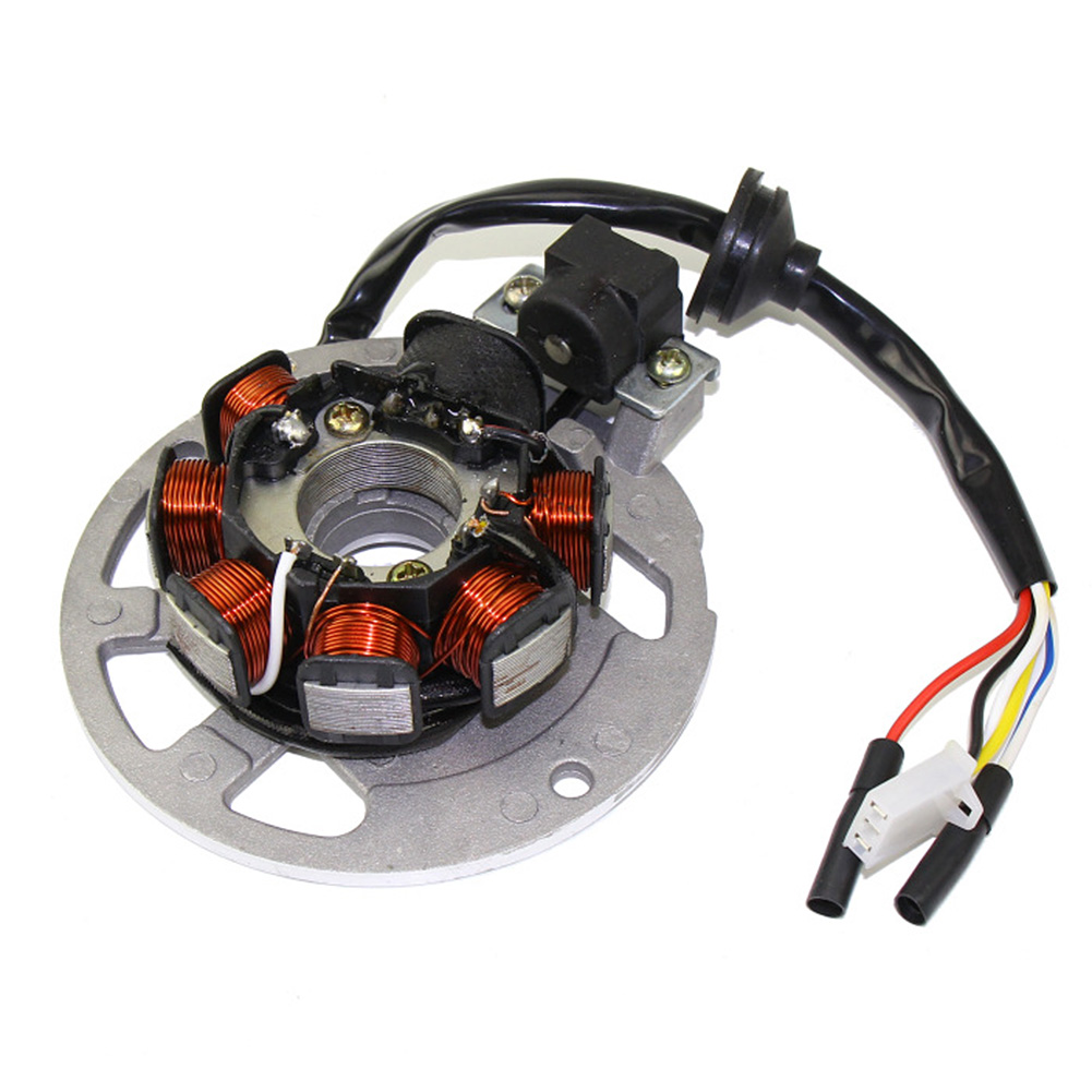Stator Magneto Compatible with Apache Fit For 50cc 100cc Quad Bike ATV 2 Stroke Scooter