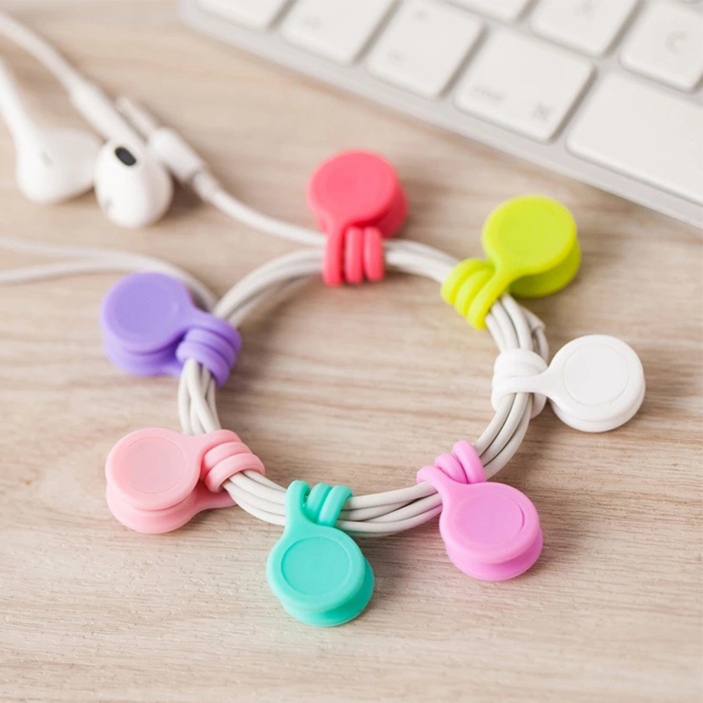 3Pcs/Pack Earphone Cord Winder USB Cable Organizer Clips Multi Function Durable Magnet Headphones Winder Cables