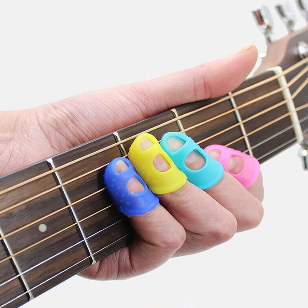 Silicone Finger Protector First Practice Finger Guard Anti-pain Finger Set Guitar Accessories