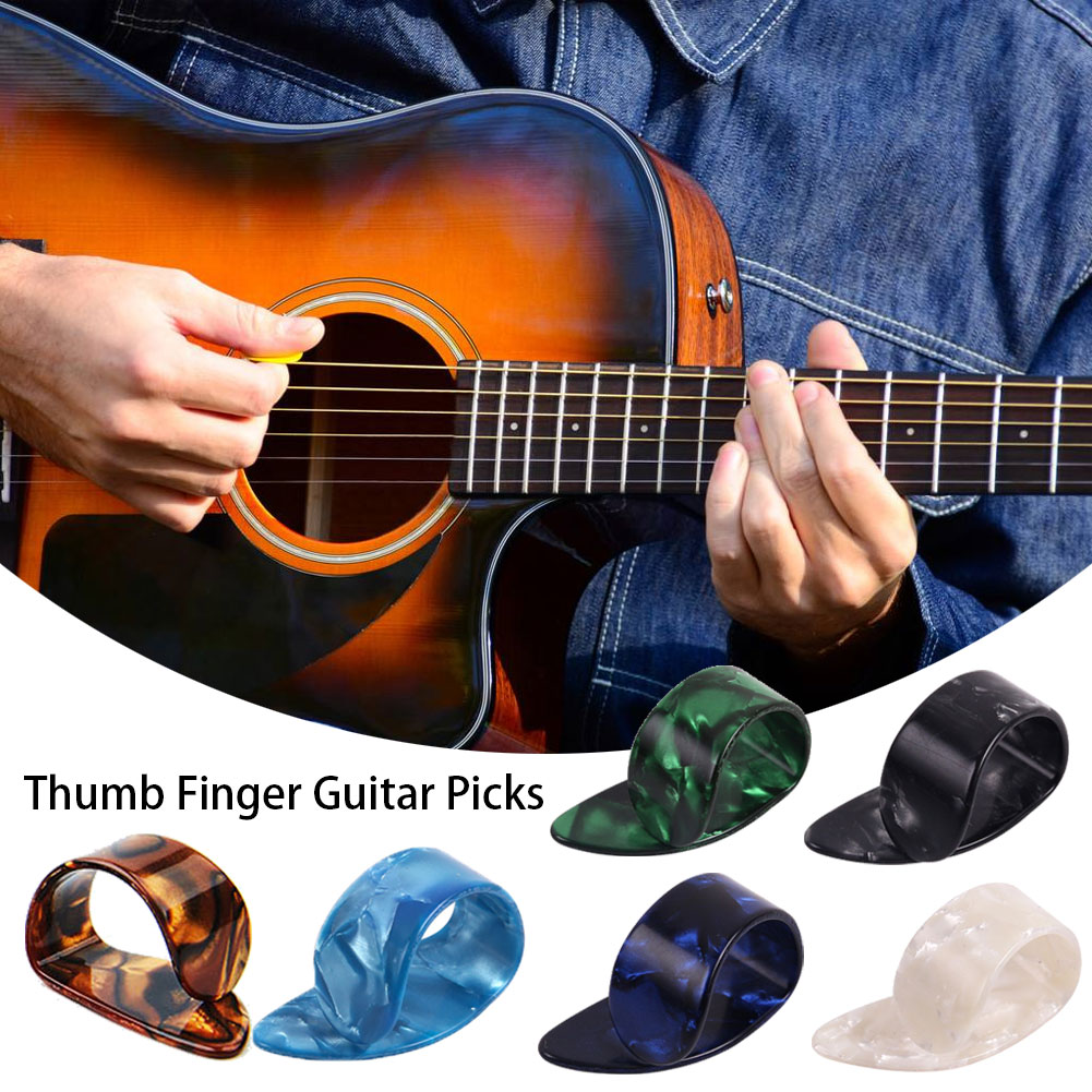 1Pc Thumb Finger Guitar Picks Guitar Plectrums Sheath Celluloid Mediator Guitar Pick for Acoustic Electric Guitar Thickness 1.2mm Guitar Accessories
