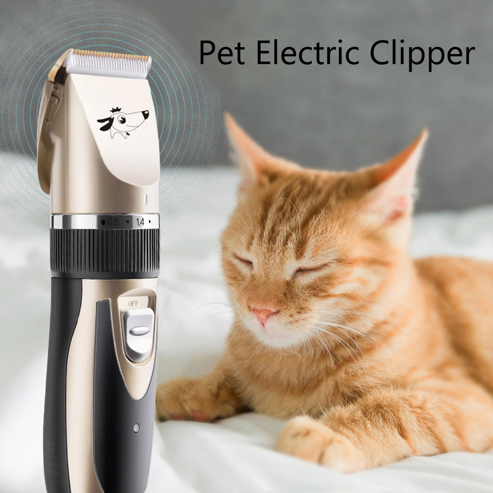 Professional Pet Electric Clipper Rechargeable Low-noise USB Hairdressing Set Cat Dog Hair Trimmer Grooming Cutter