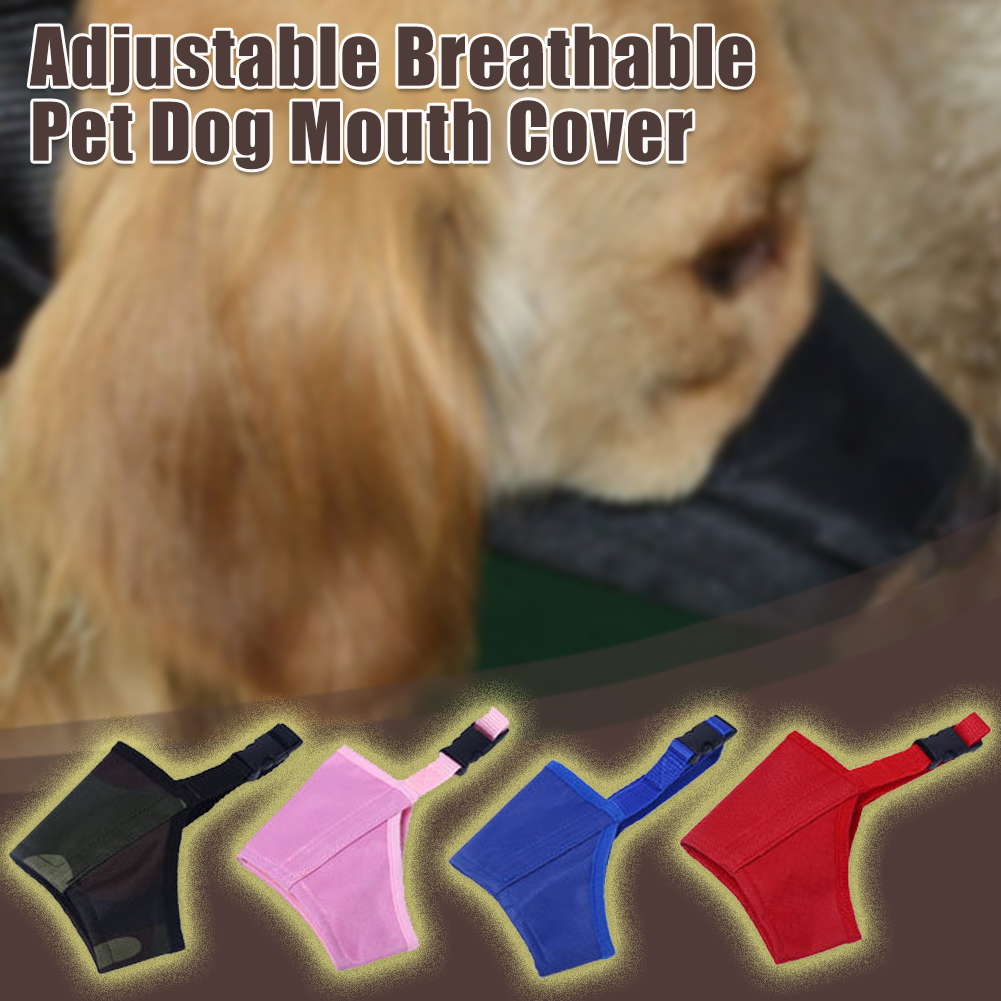 Adjustable Breathable Mask Pet Dog Anti Bark Chew Safety for Dogs Mouth Training