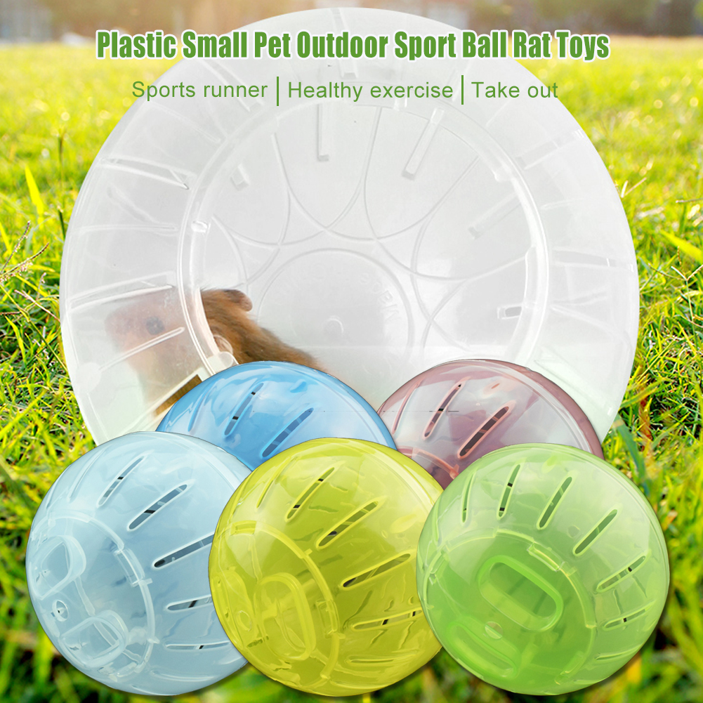 Plastic Small Pet Outdoor Sport Ball Grounder Jogging Hamster Pet Small Exercise Toy
