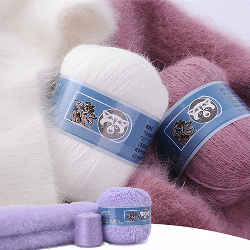 50+20g/Set Long Plush Mink Cashmere Yarn Anti-pilling Fine Quality Hand-Knitting Thread For Cardigan Scarf Suitable for Woman