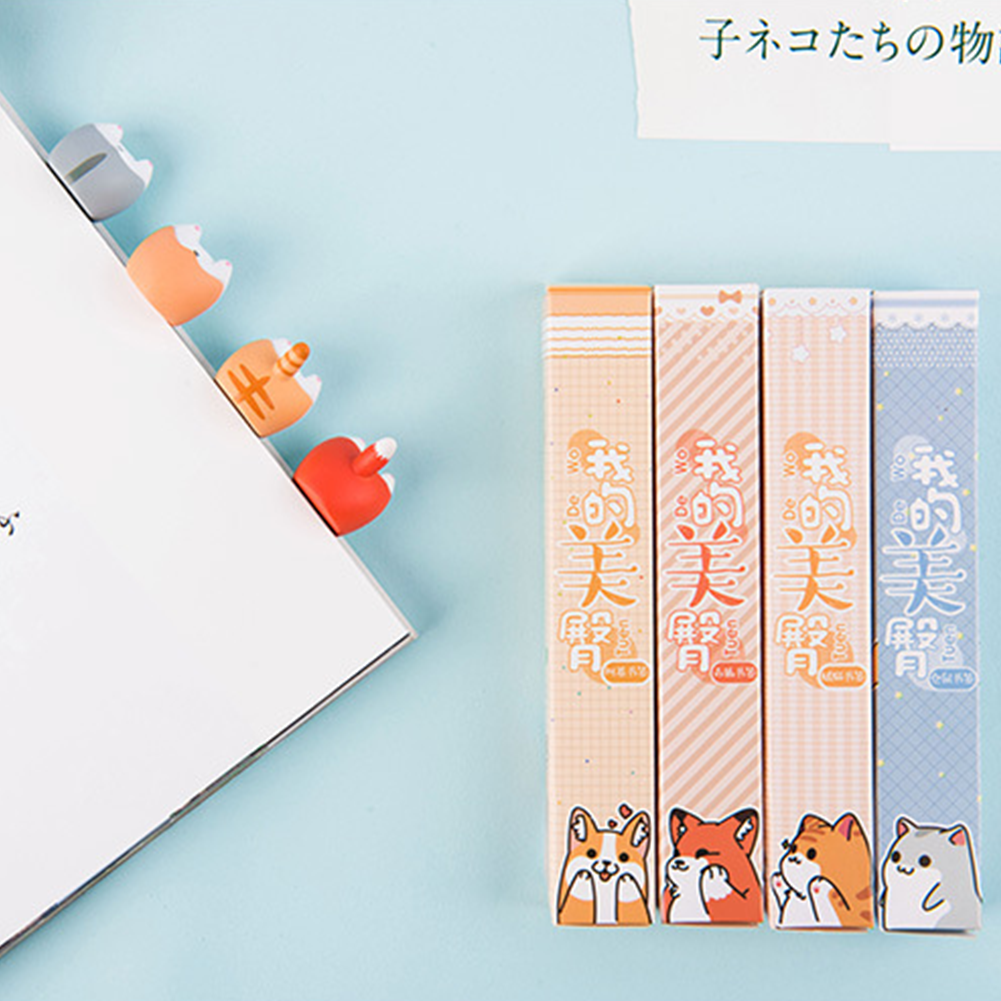 Lovely Creative Dog Cat Hamster Fox Ass Bookmarks School Office Cute Stationary Bookmark Reading Gift