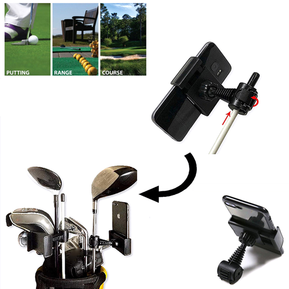 Golf Swing Recorder Holder Cell Phone Clip Holding Trainer Practice Training Recorder