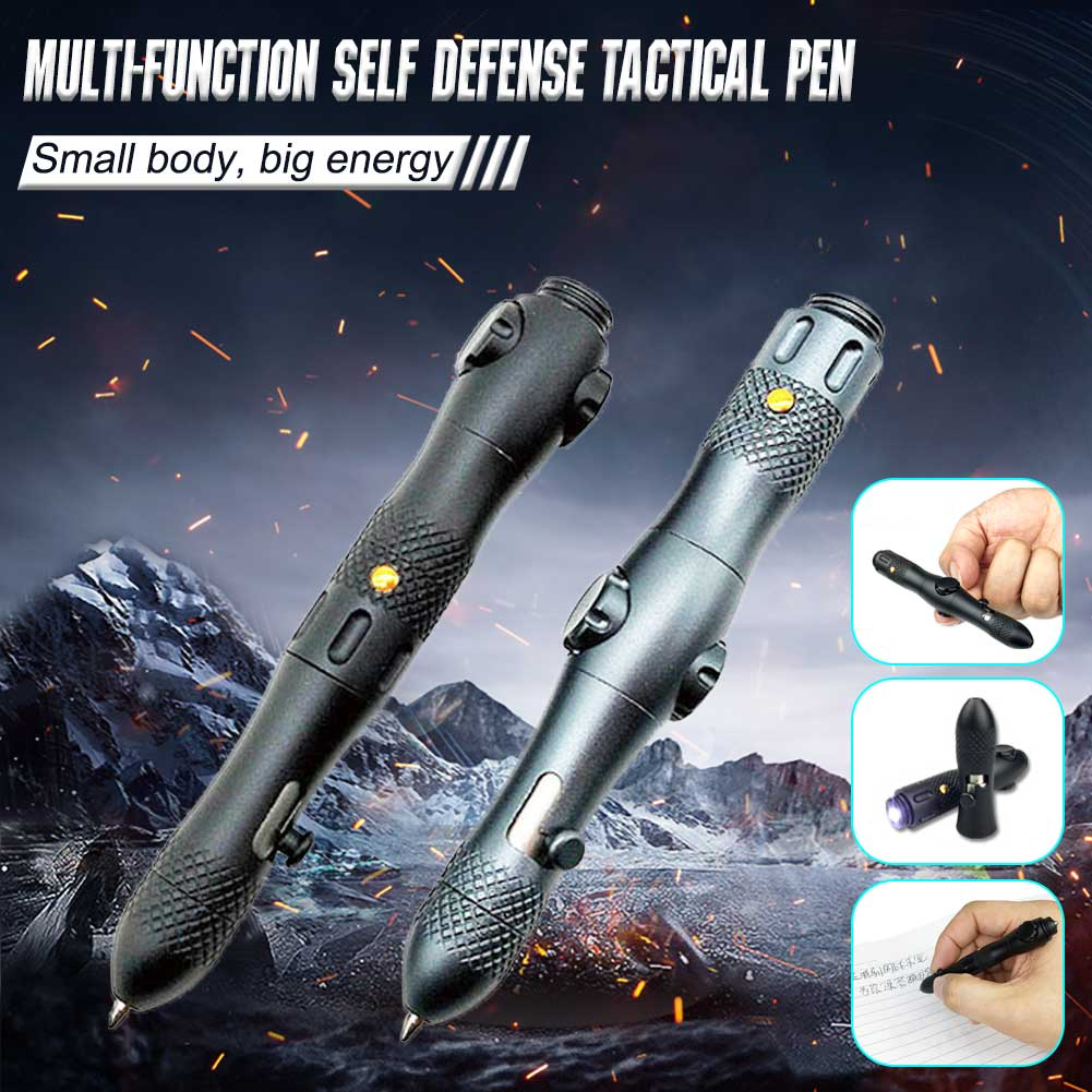 Multifunction Self Defense Tactical Pen with LED Light Emergency Glass Breaker Outdoor Survival EDC Tool Camping Tools