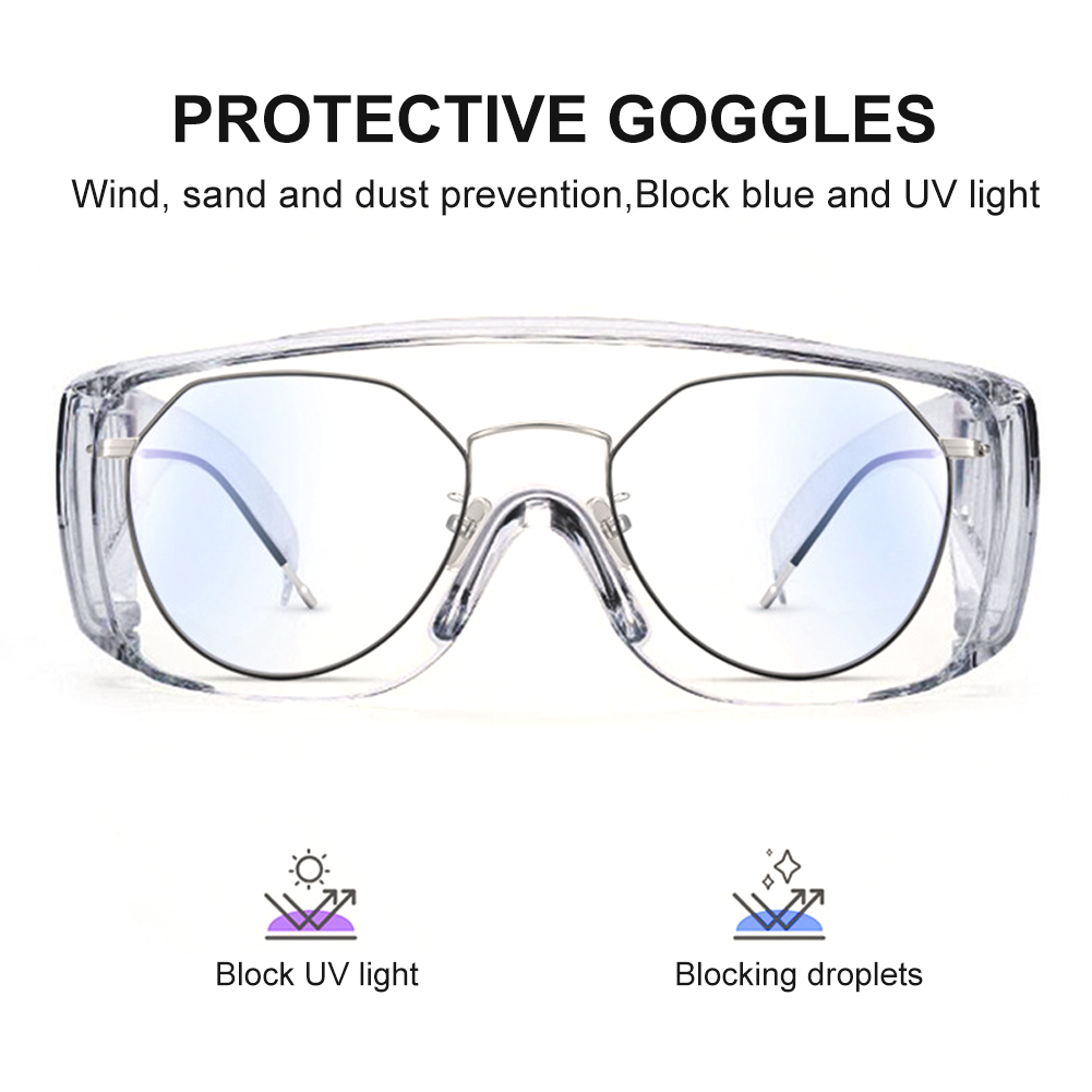 SafetyCover2 Glasses Protective��Prevent Foam Droplets And Dust Eye Wear - Over-The-Glass (OTG), Clear Lens