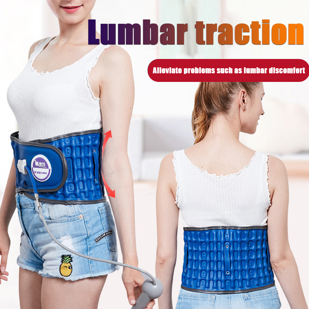 Waist Air Traction Brace Belt Spinal lumbar Support Back Relief Backach Pain Release Physio Decompression