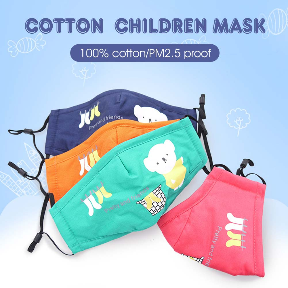 Child Cartoon Mouth Mask PM2.5 Mouth Mask Anti-Dust Anti Pollution Mouth Mask With 1Pc Filter Paper
