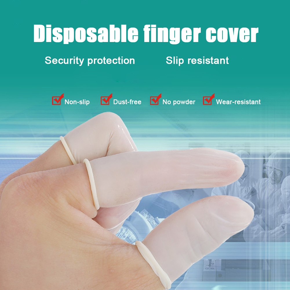 Disposable Latex Finger Cots Household Gloves Anti-slip Antistatic Latex Fingertip Fingers Protection Covers