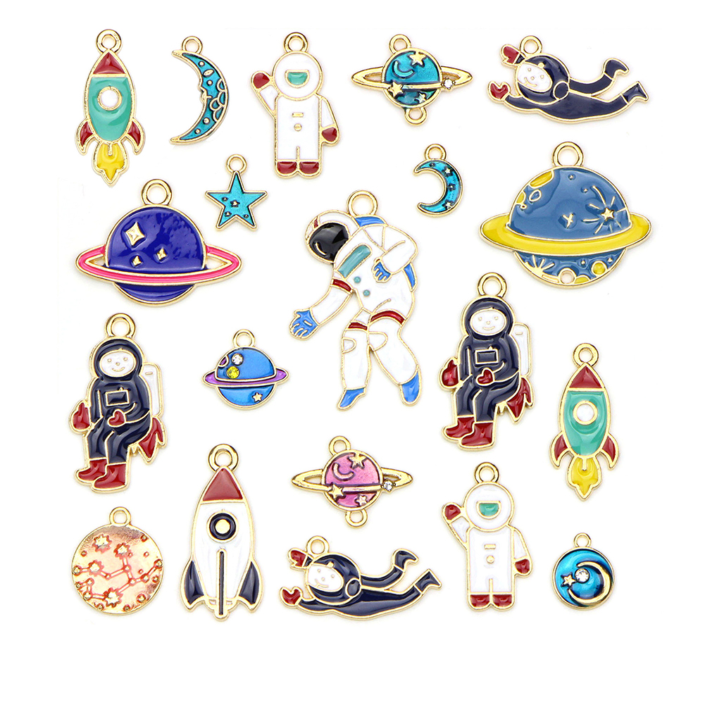 20PCS/Set Space Series Pendants DIY Jewelry for Necklace Bracelet Craft Findings Making