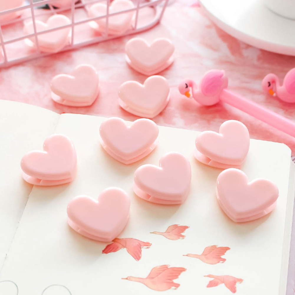 Pink Love heart paper clips File Clip Organizer Office Decoration DIY Photo Peg Photography Decoration Accessories