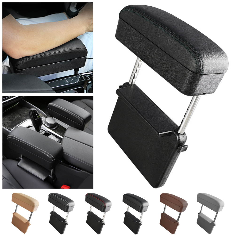 Car Center Console Armrest Car Organizer Seat Wireless Charge Storage Box Leather Auto Holder Container Arm Rest