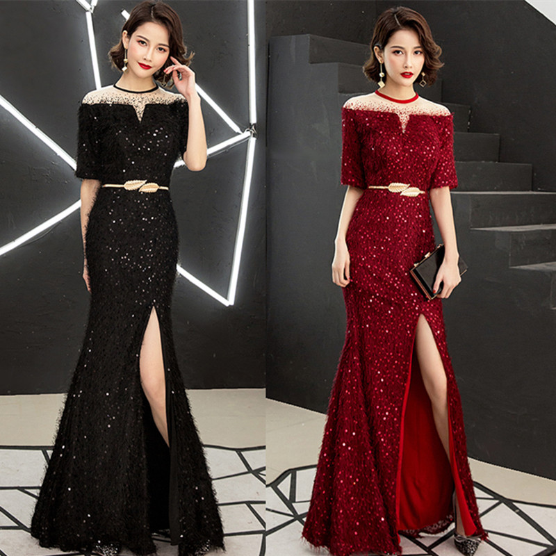 Evening Dress Female New High-end Atmospheric Ladies Noble Annual Host Long Section