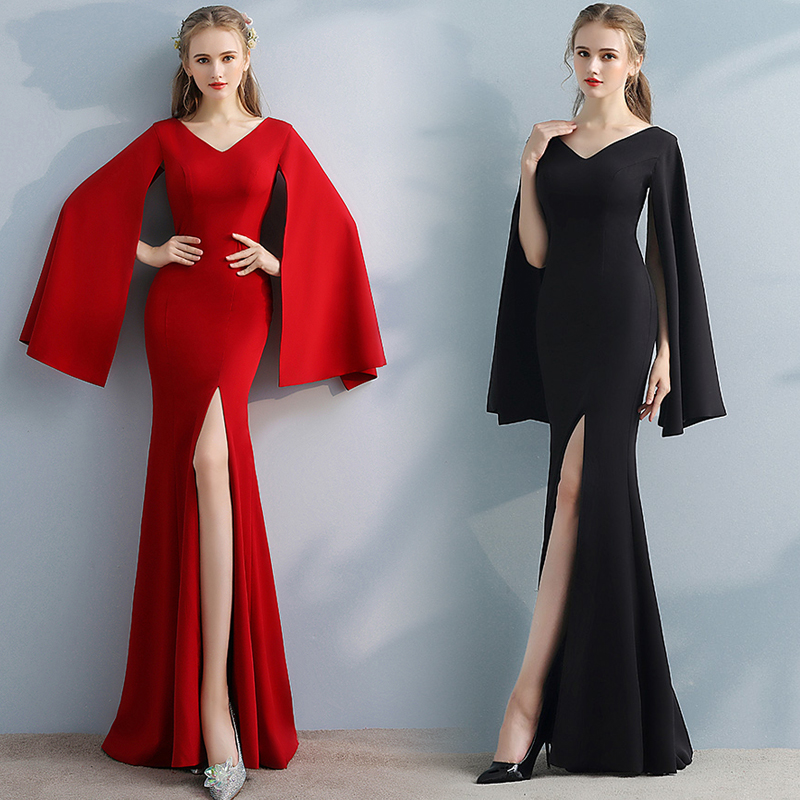 Toasting Suit Temperament Long Dress Fishtail Long Noble Elegant Evening Dress Banquet Dress