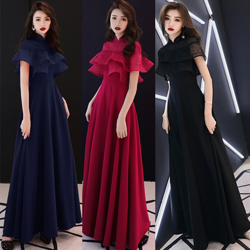 Toast Clothing Bride New Long Wedding Temperament Fashion Long Dress Dignified Atmospheric