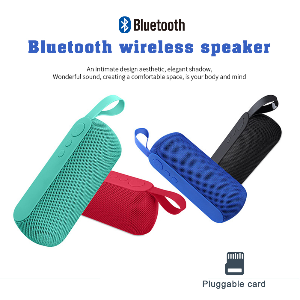 Wireless Bluetooth Speaker Portable Outdoor USB AUX TF Fabric Loud Bass Stereo Sound Built-in Microphone Speaker Suitable for Home, Travel and Outdoor