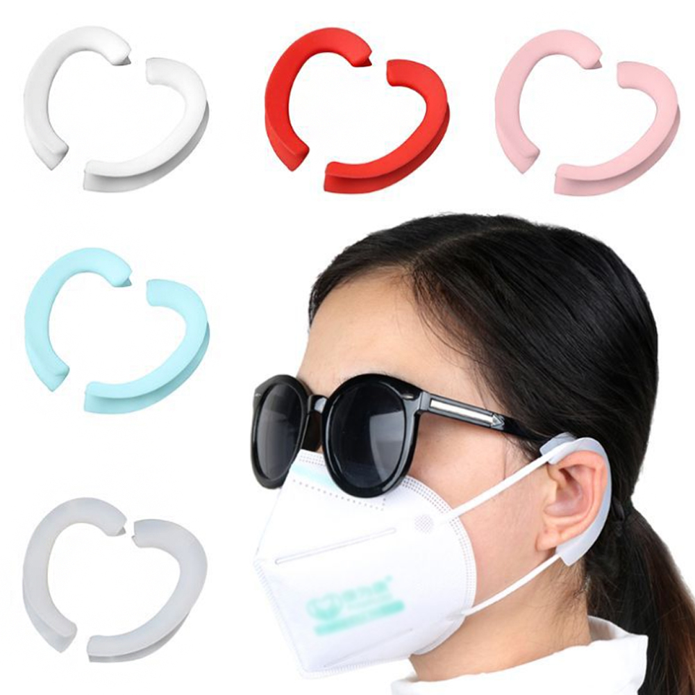 1 Pair Mask Soft Silicone Ear Hook Mask Companion Anti-leak Anti-pain Invisible Earmuffs Recycling Ear Protection Artifact
