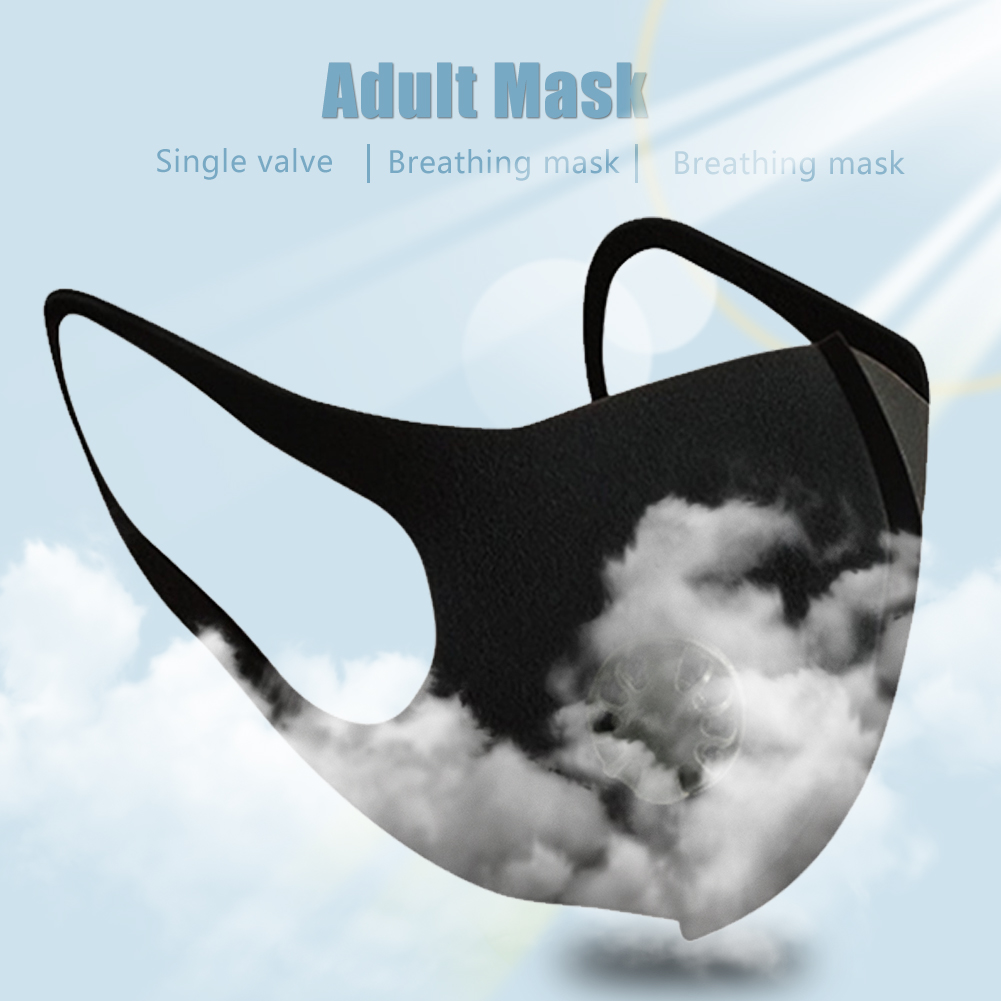 Adult Mask Nano Breathable Face Mask with Single Breathing Valve Reusable Anti Dust Pollution Face Shield Wind Proof Mouth Cover