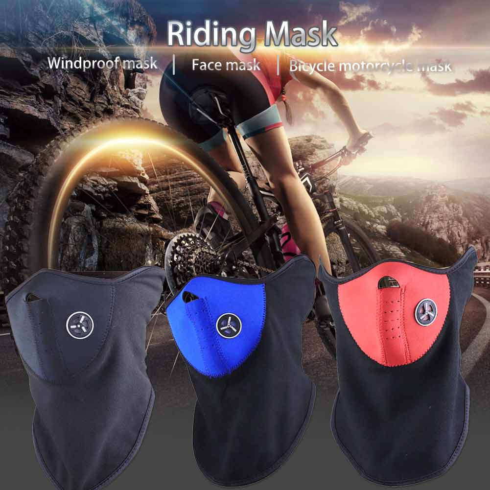 Riding Masks Ski Cycling Anti Dust Half Face Mask Cover Outdoor Sport Windproof Neck Guard Scarf Headwear Masks