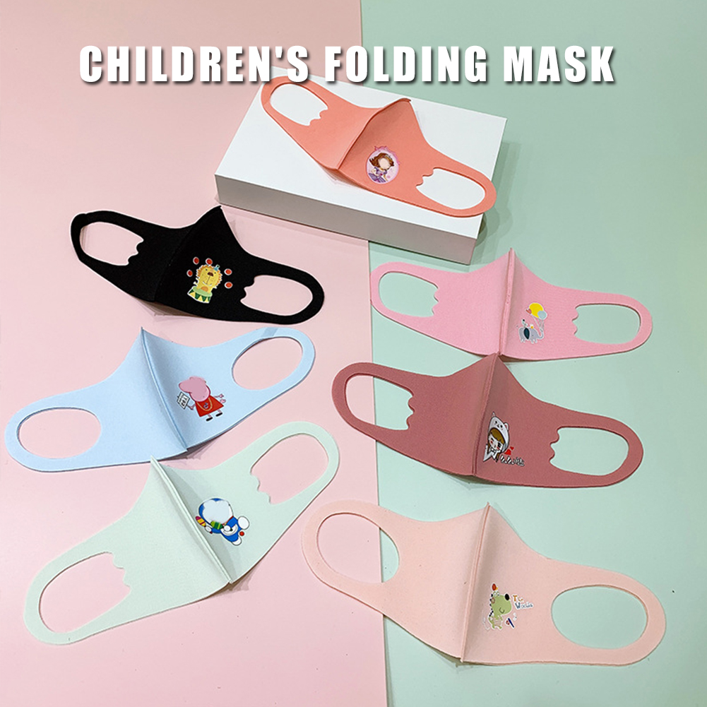 Cartoon Childrens masks Washable Breathable Dust Wind Proof Anti Haze Protective Mouth Mask