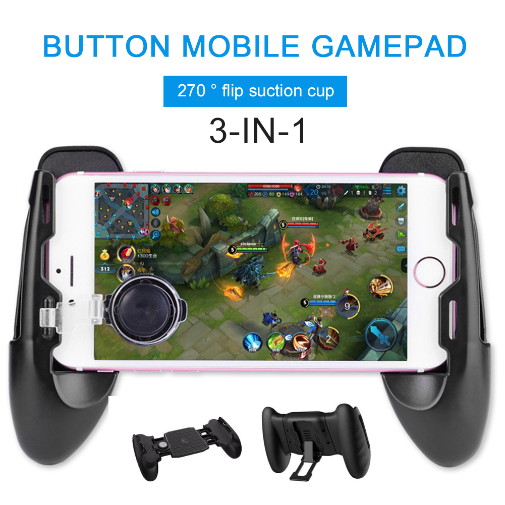 Mobile Controller Mobile Game Controller Compatible with Fortnite iPhone/Android, Mobile Controller 3 in 1 Compatible with Fortnite pubg Mobile triggers Portable Gamepad