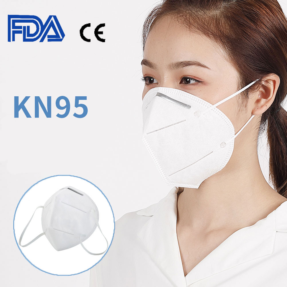 10PCs KN95 Disposable Mouth Mask Anti Dust Anti Haze Face Mask 4-Layer Dustproof Protective 95% Filtration KN95 Mouth Muffle Cover