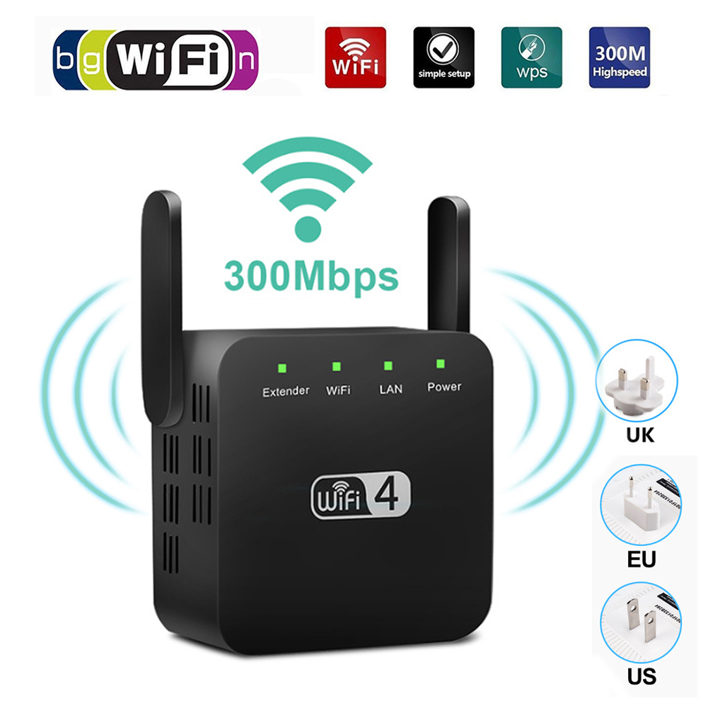 Wireless Wifi Repeater Wifi Range Extender Wifi Signal Amplifier 300Mbps Wifi Booster Repiter Access Point