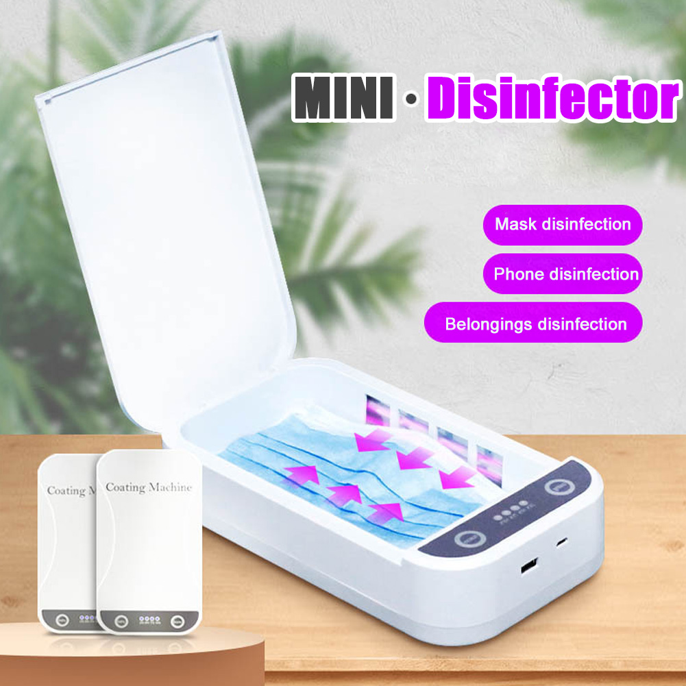 Phone Sanitizer UV Light Smartphone Sterilizer Disinfection Box for Face Mask Makeup Tools Jewelry Watches