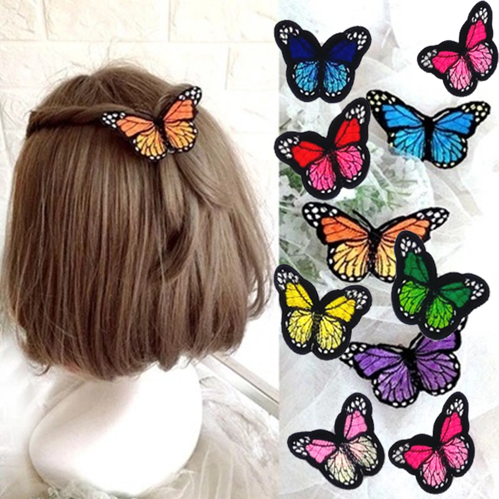 Mix Colors Embroidered Butterfly Patch Iron For Shirts Dress Shoes Hats Sweater Jeans Appliques