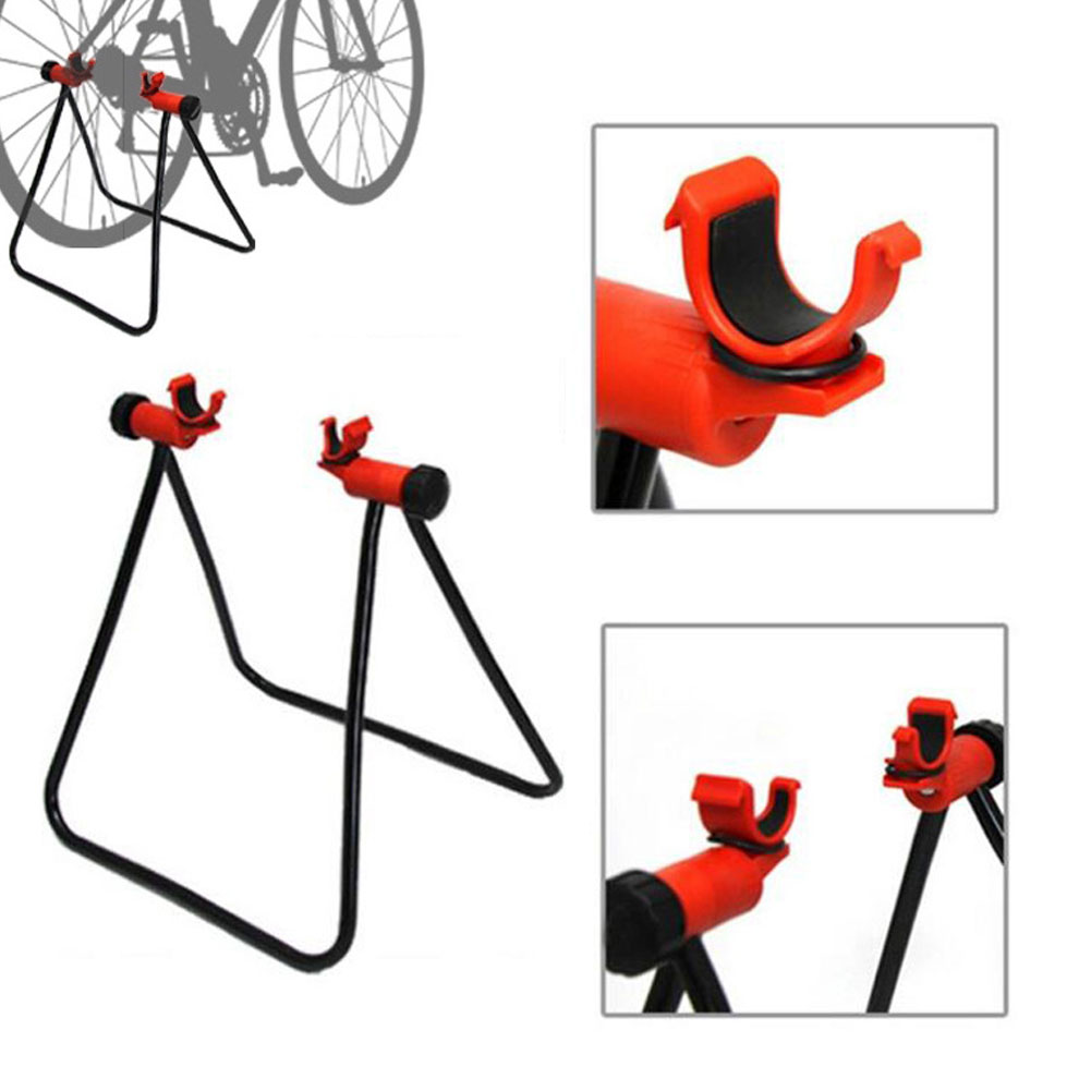Bike Stand Parking Rack Indoor Outdoor Maintenance Holding Floor Triangle Bicycle Holder Repair Accessories for Garage or Home