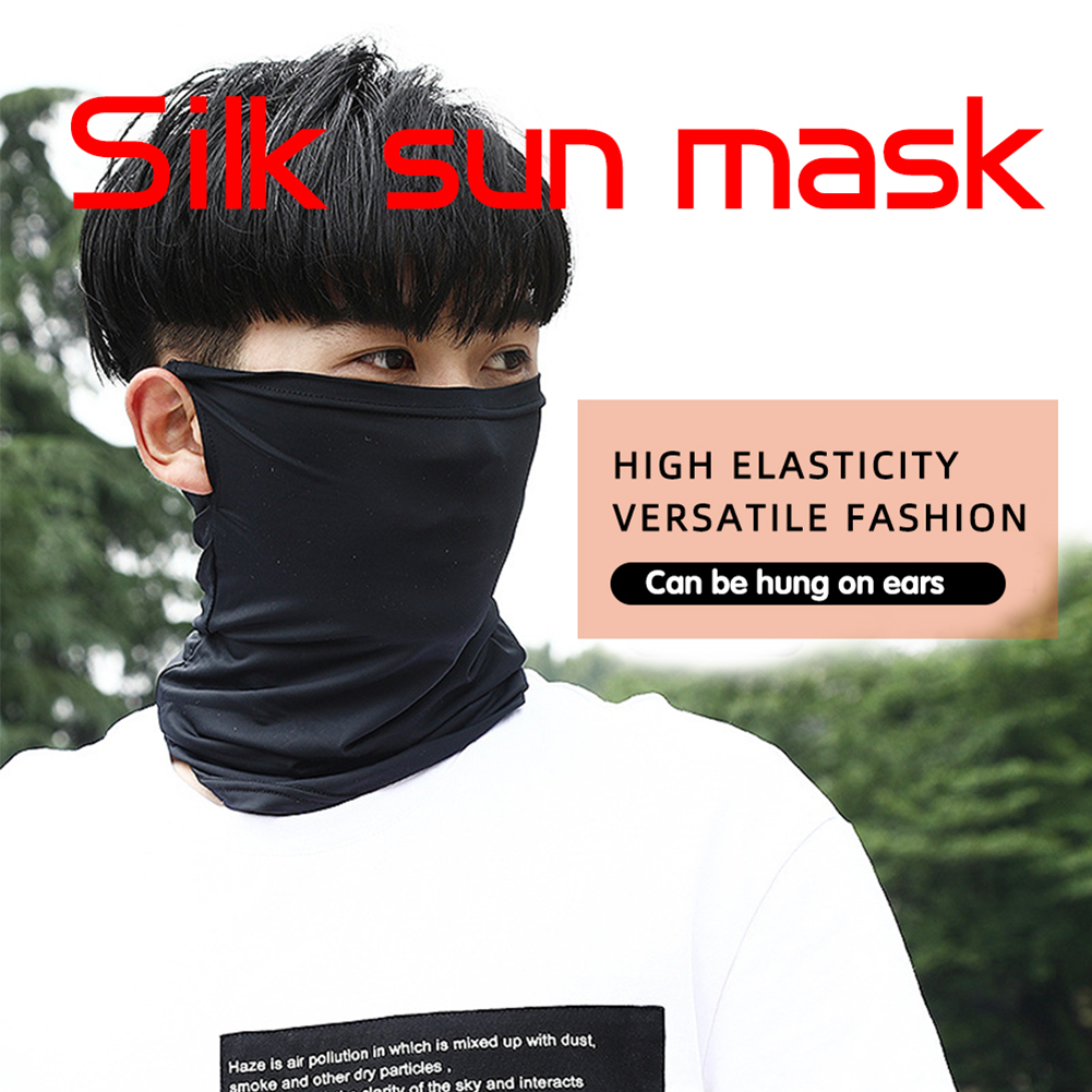 Cool Ice Silk Cycling Half Face Mask Skin Breathable UV Protection Sports Headwear Bike Headband Mask Spring Summer