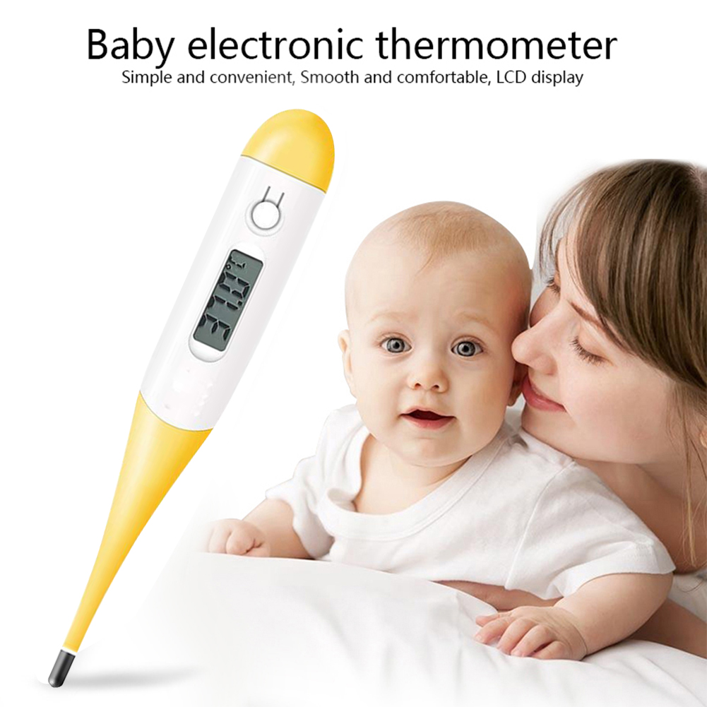 High Precision Thermometer for Fever Test with Flexible Tip, LCD Digital Body Temperature Accurate & Fast Reading Oral Cavity, Rectum, Armpit Thermometer for Baby, Child & Adult