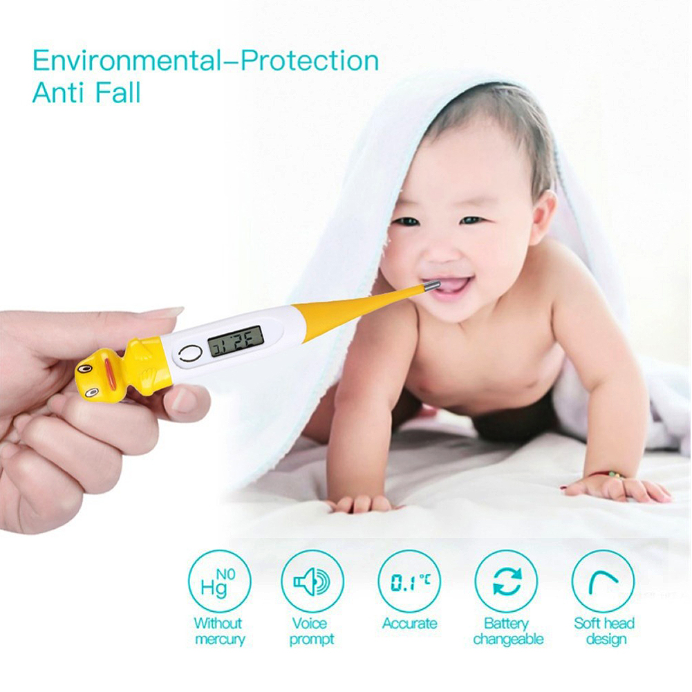 Digital Thermometer,Medical Thermometer,Cartoon Digital Thermometer Oral Underarm LCD Thermometer for Kids Adult